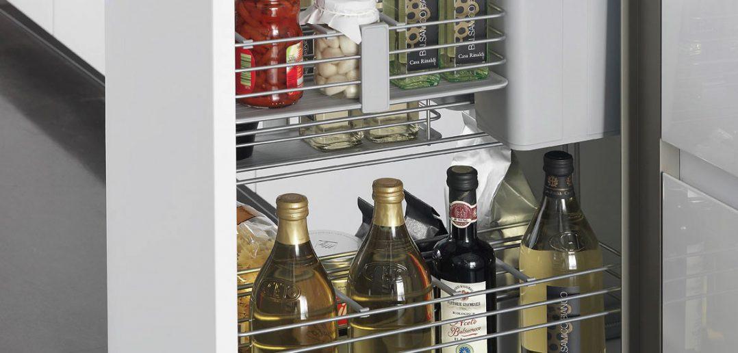 """Sie erfreut nicht nur Koch-Profis. Auch Anfänger werden diese individuell konfigurierbare """"Cooking-Station"""" mit den lebensmitteltauglichen Funktionselementen zu schätzen wissen."""