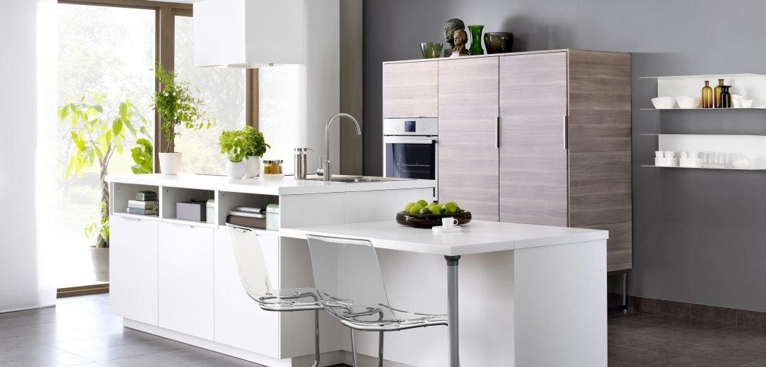 Ikea Kücheninsel Weiss mit Küchenschrank