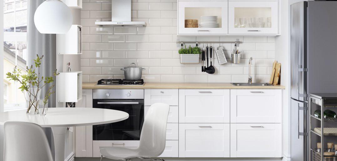 Ikea Küchenzeile Modern Weiss Wohnküche