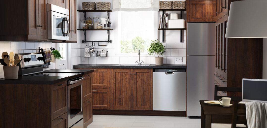 Ikea Landhaus Küche in Holz Braun