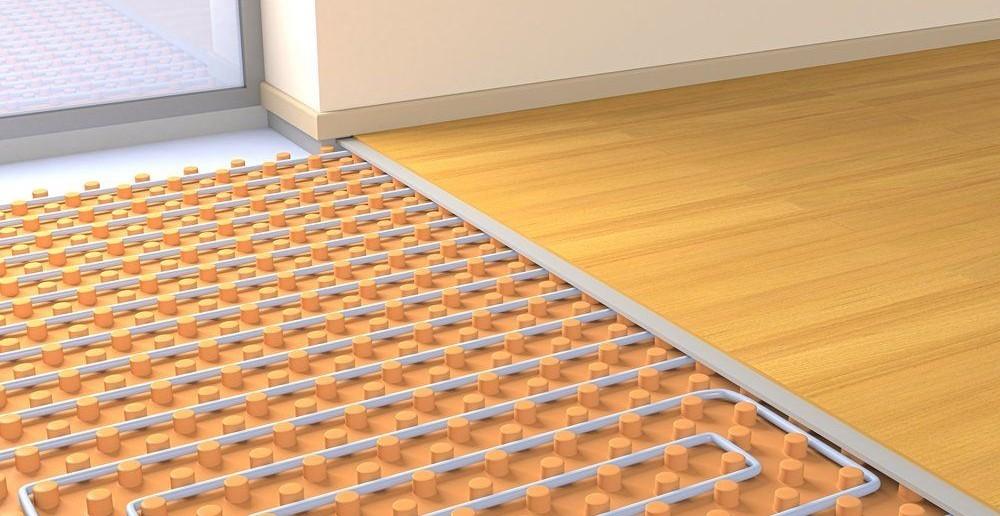 Unsichtbare Fußbodenheizung
