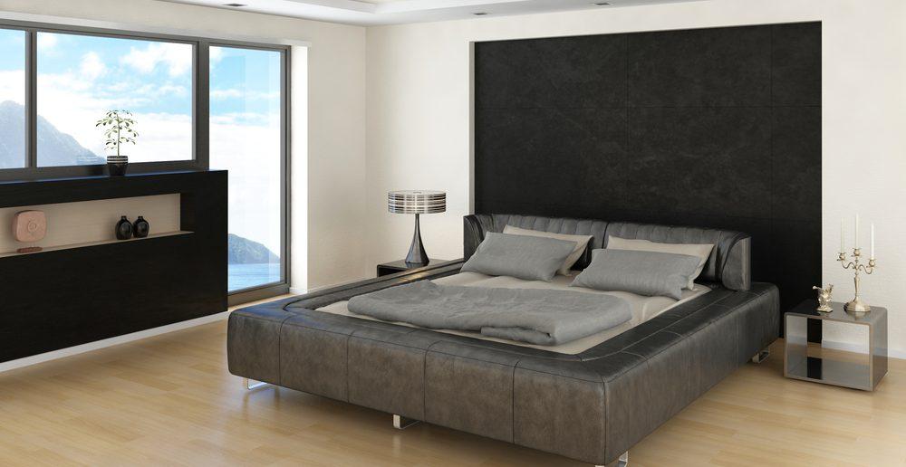 Wandfarbe das schlafzimmer kreativ gestalten ratgeber haus garten - Wandfarbe schwarz ...