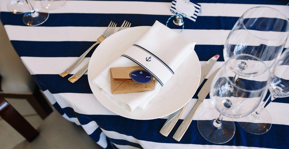 Tisch eindecken Dekoration Maritim