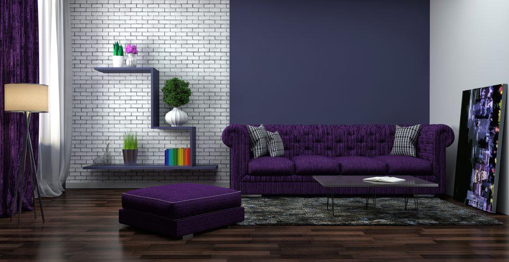 Wohnzimmer Einrichtung Lila