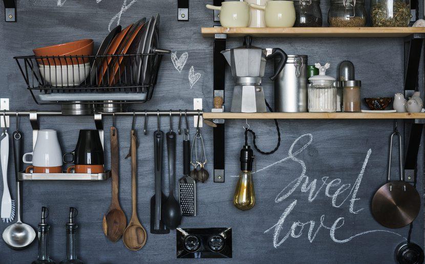 Küchenwand Tafelfarbe